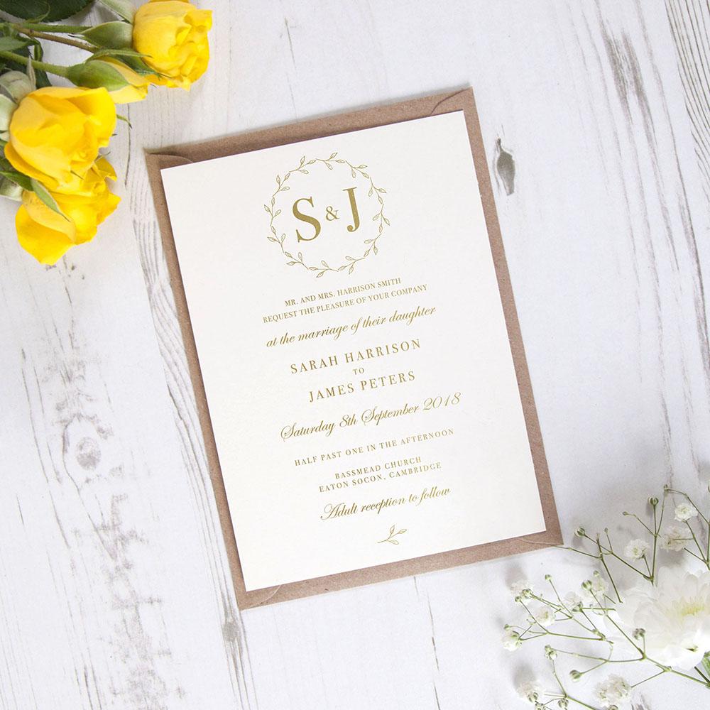 'Josephine' Standard Foil Invite