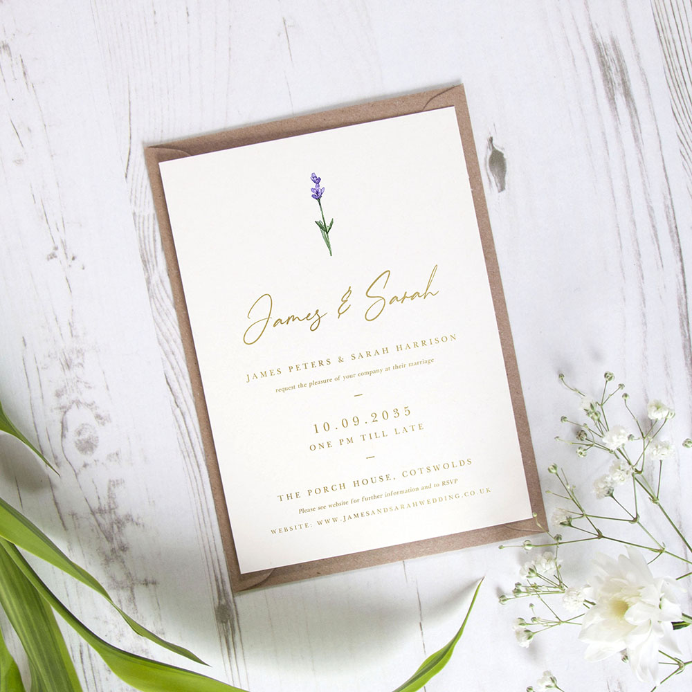 'Lavender' Standard Foil Invite