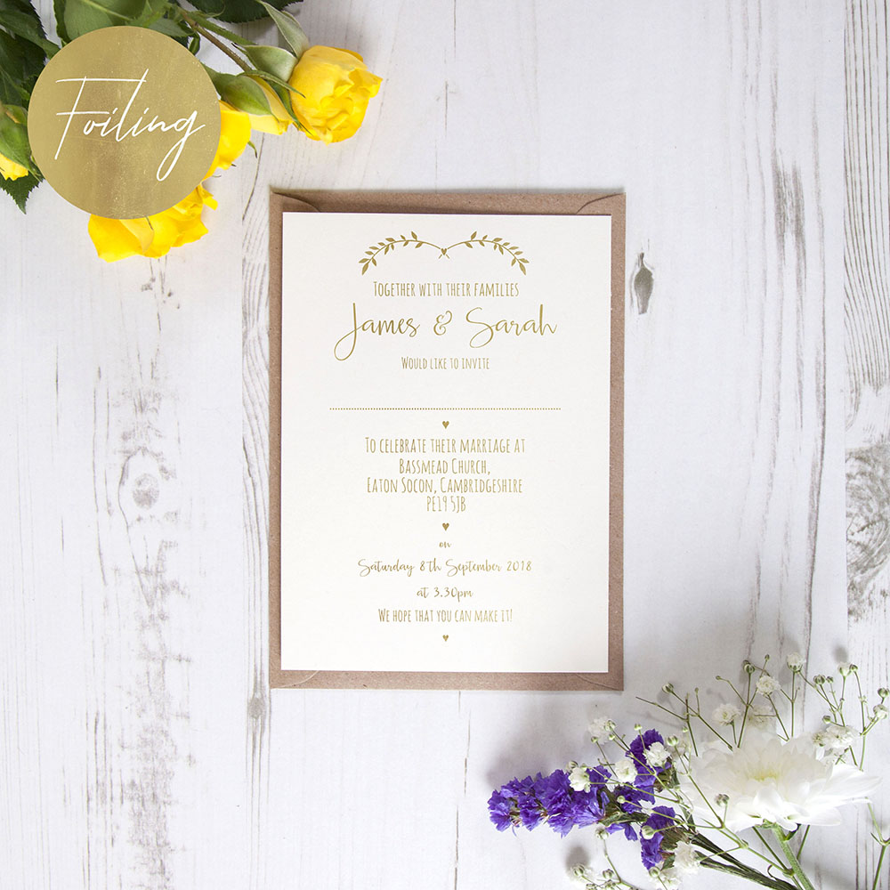 'New Ivy Design' Standard Foil Invite