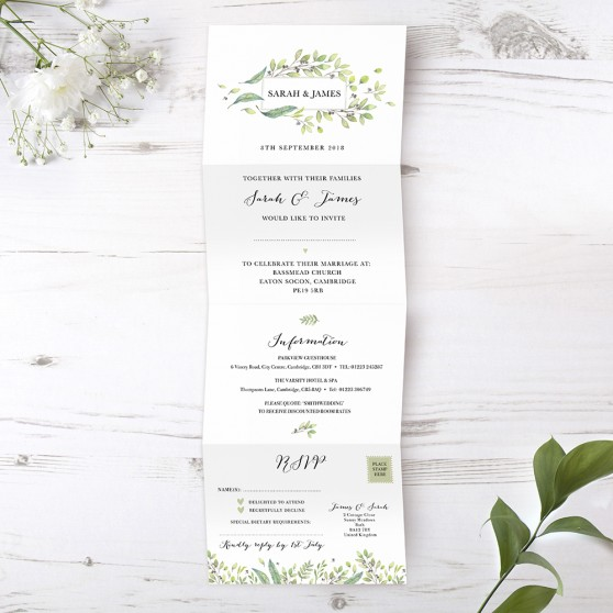 'Arabella' Folded Invite Sample