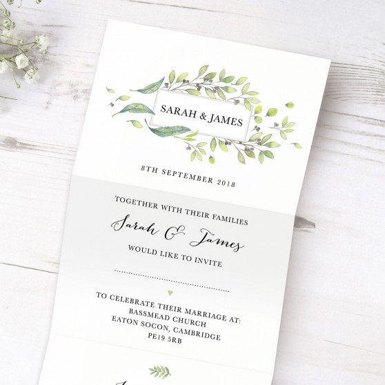 'Arabella' Folded Invite