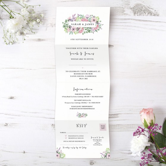 'Chloe' Folded Invite