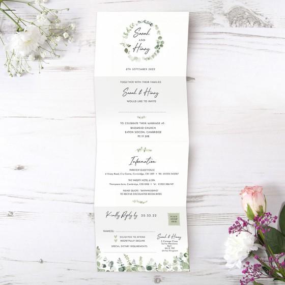 Long Folded Invites