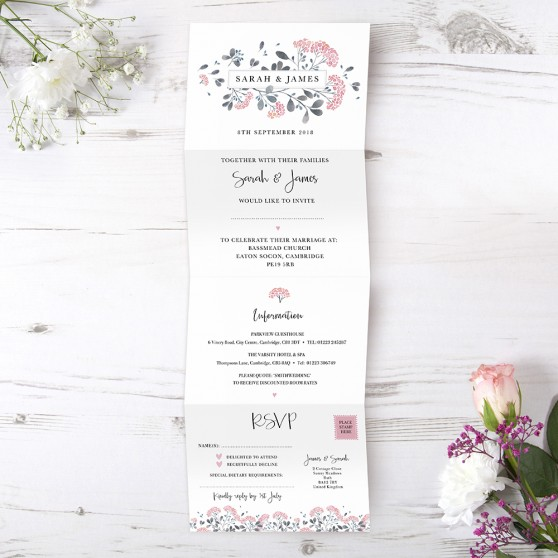 'Felicity' Folded Invite Sample