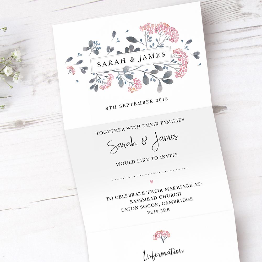 'Felicity' Folded Invite Sample
