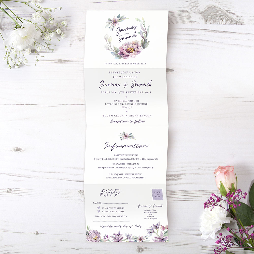 'Henrietta Dawn' Folded Invite