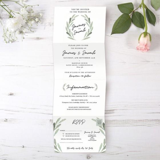 Folded Invite Samples