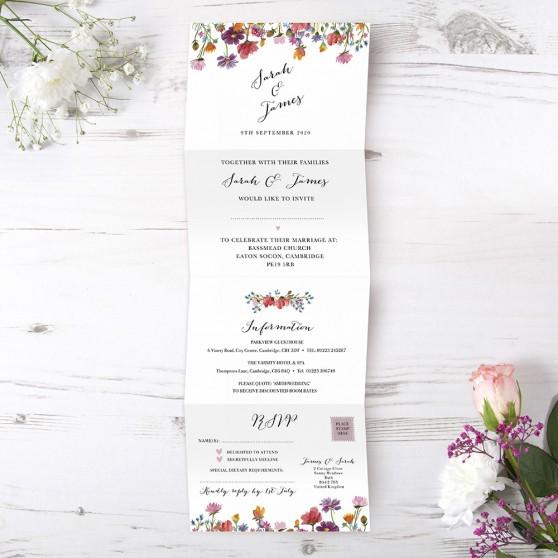 'Wild Floral' Folded Invite