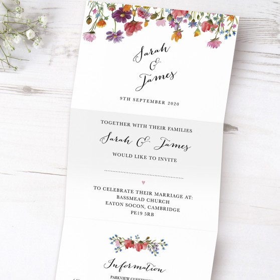 'Wild Floral' Folded Invite Sample