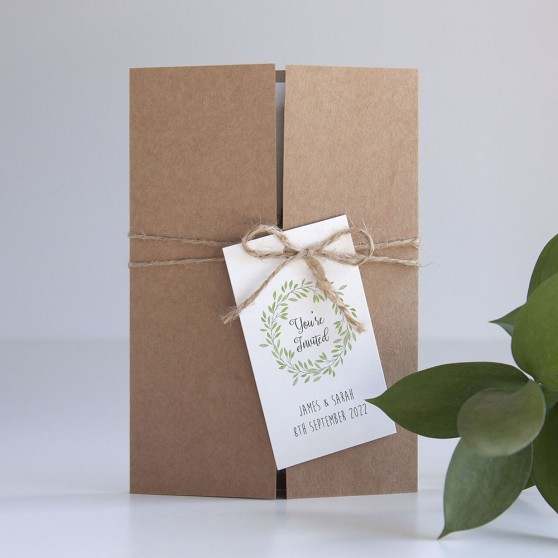 'Autumn Green' Gatefold Invite