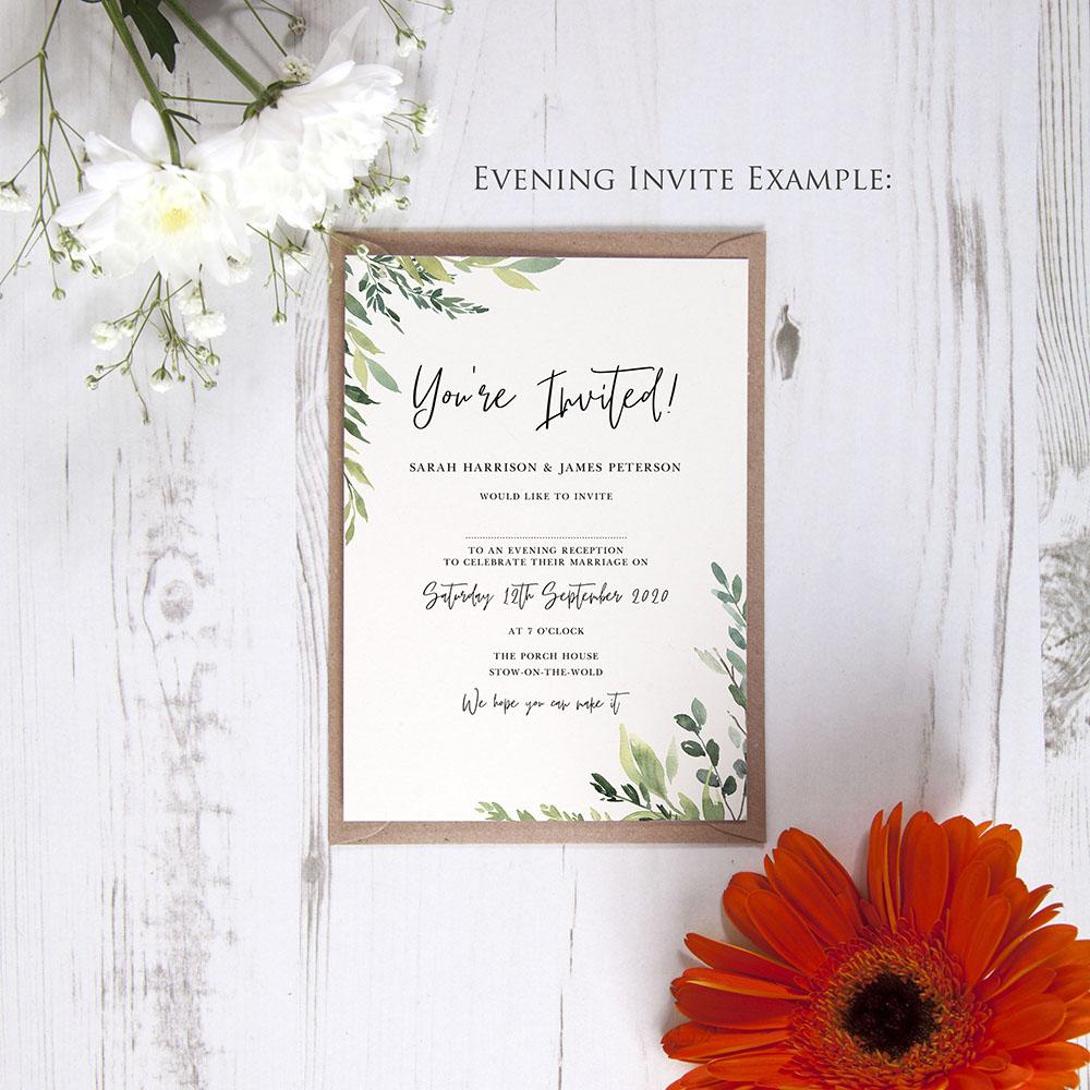 'Back to Nature' Gatefold Wedding Invitation Sample