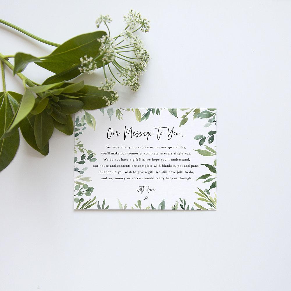 'Back to Nature' Gatefold Wedding Invitation