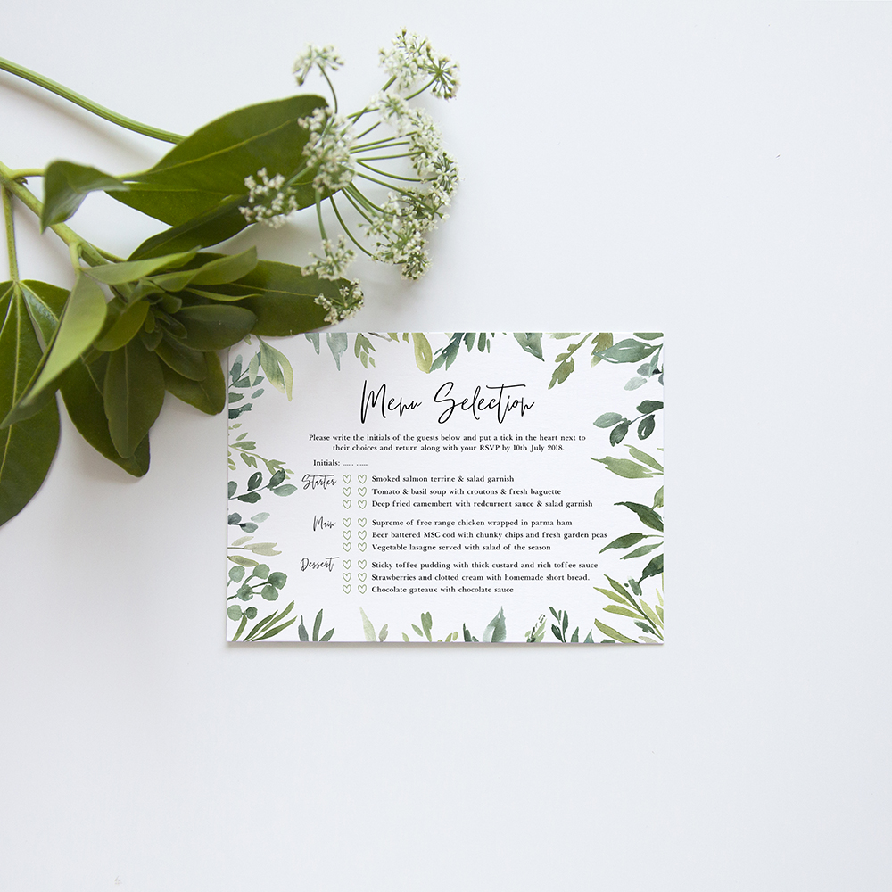 'Back to Nature' Hole-punched Invite