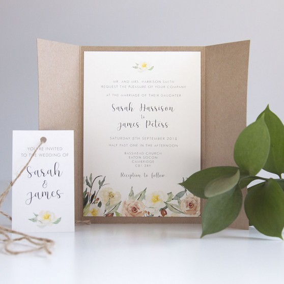 'Dahlia Rose' Gatefold Invite