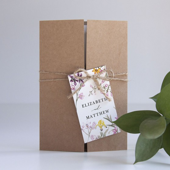 'Wild Botanical' Gatefold Invite Sample