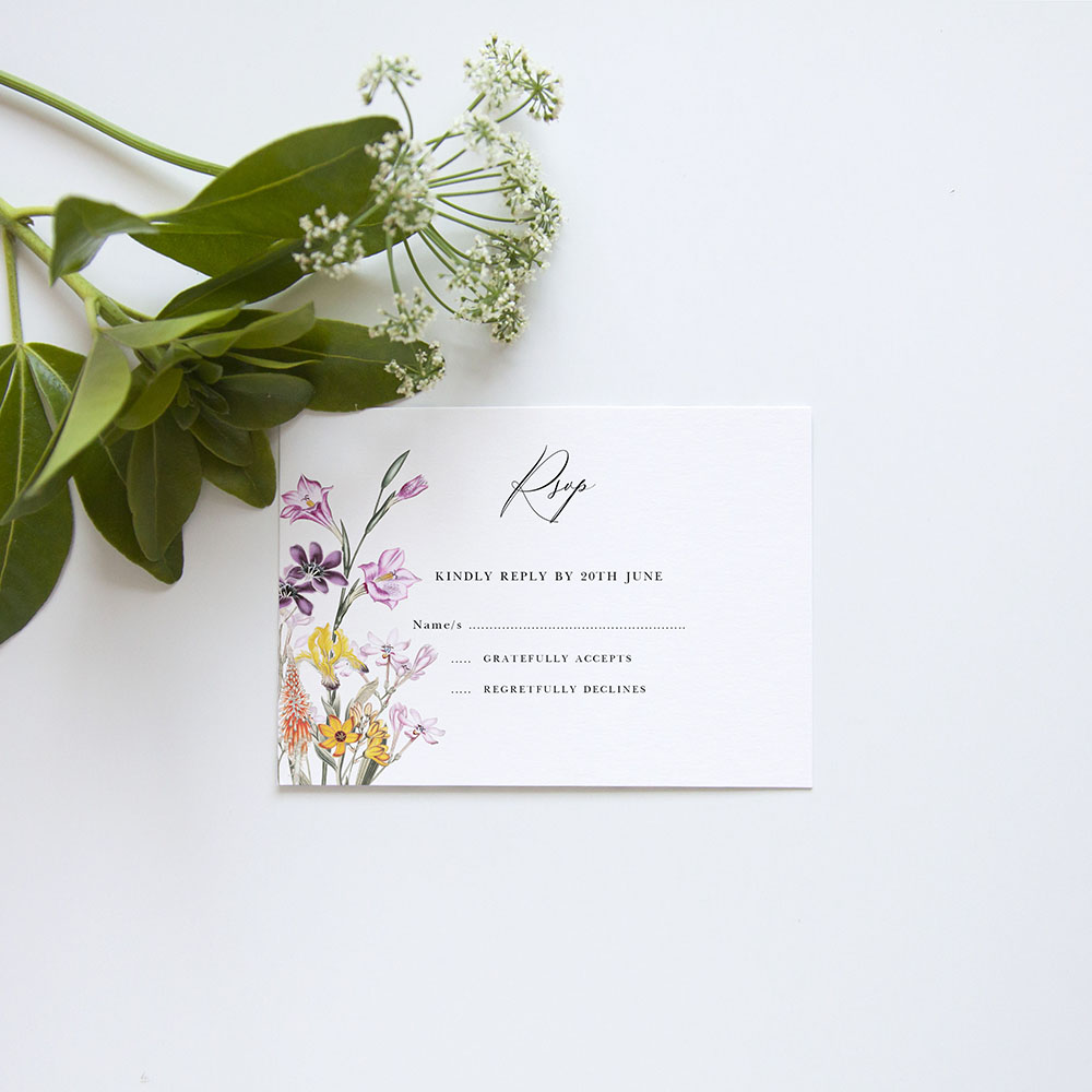 'Wild Botanical' Gatefold Invite Sample