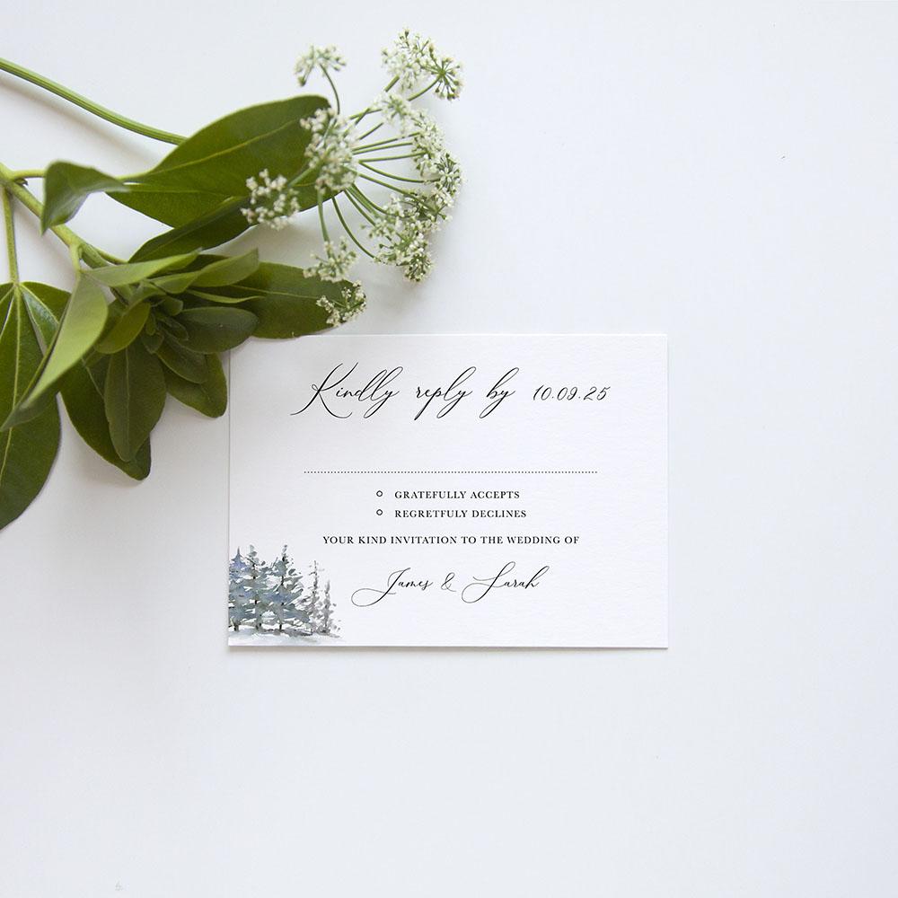 'Christmas Hare' Gatefold Invite Sample