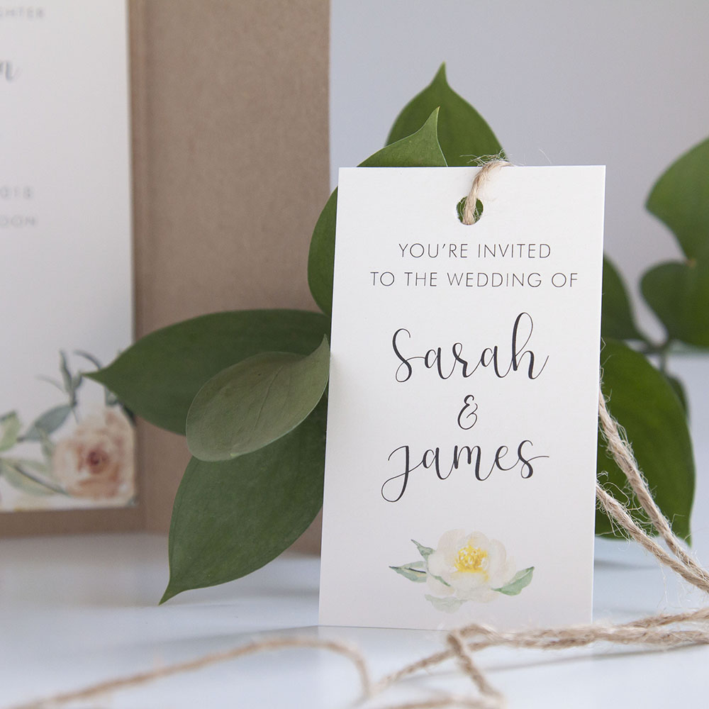 'Dahlia Rose' Gatefold Invite Sample