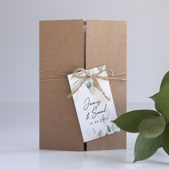 'Dreamy Eucalyptus' Gatefold Wedding Invitation Sample