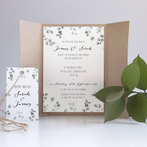 'Eucalyptus' Gatefold Invite Sample