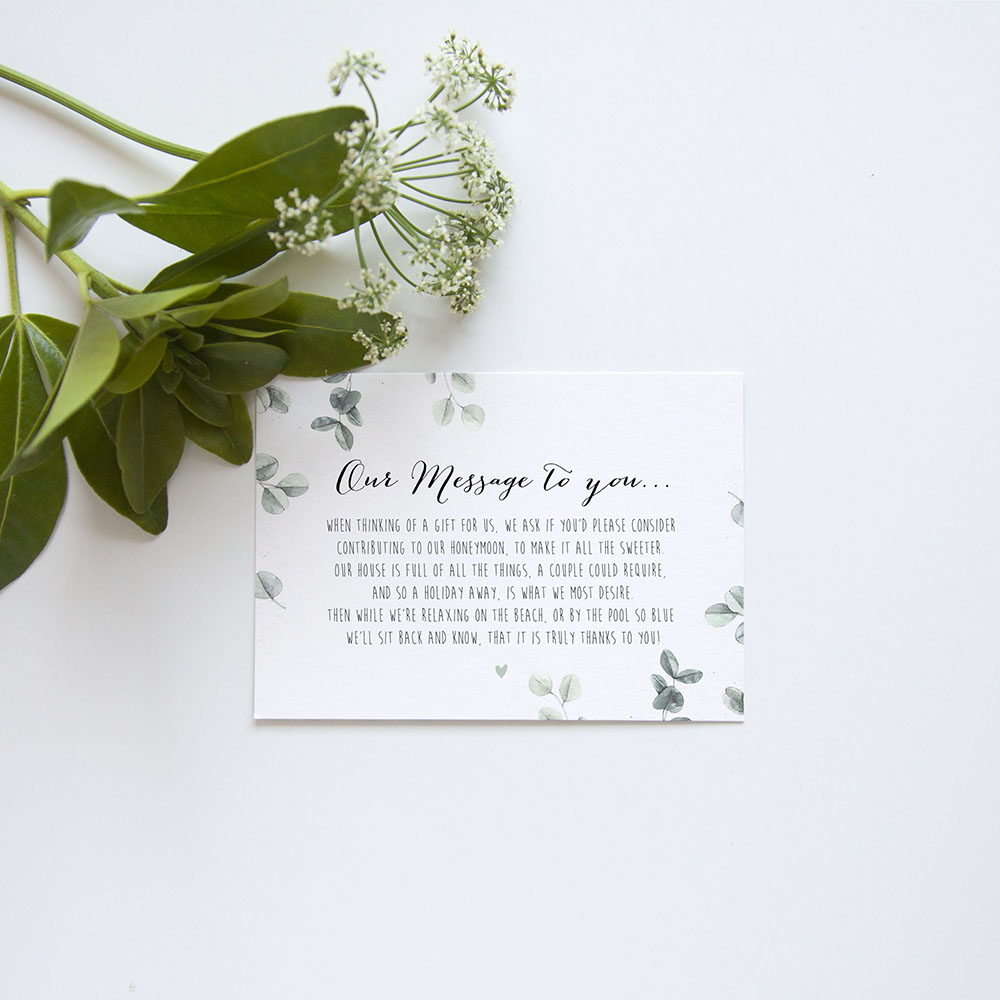 'Eucalyptus' Gatefold Invite