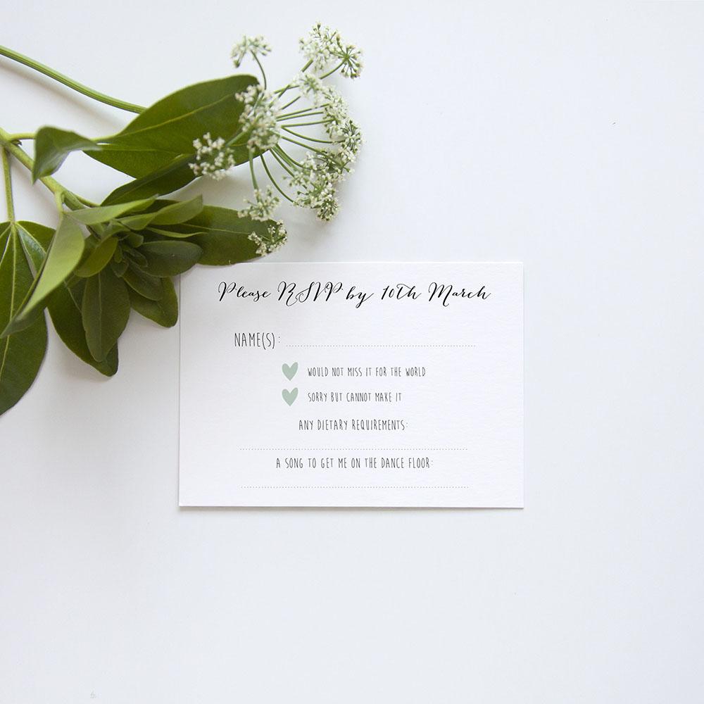 'Eucalyptus' Gatefold Invite Sample