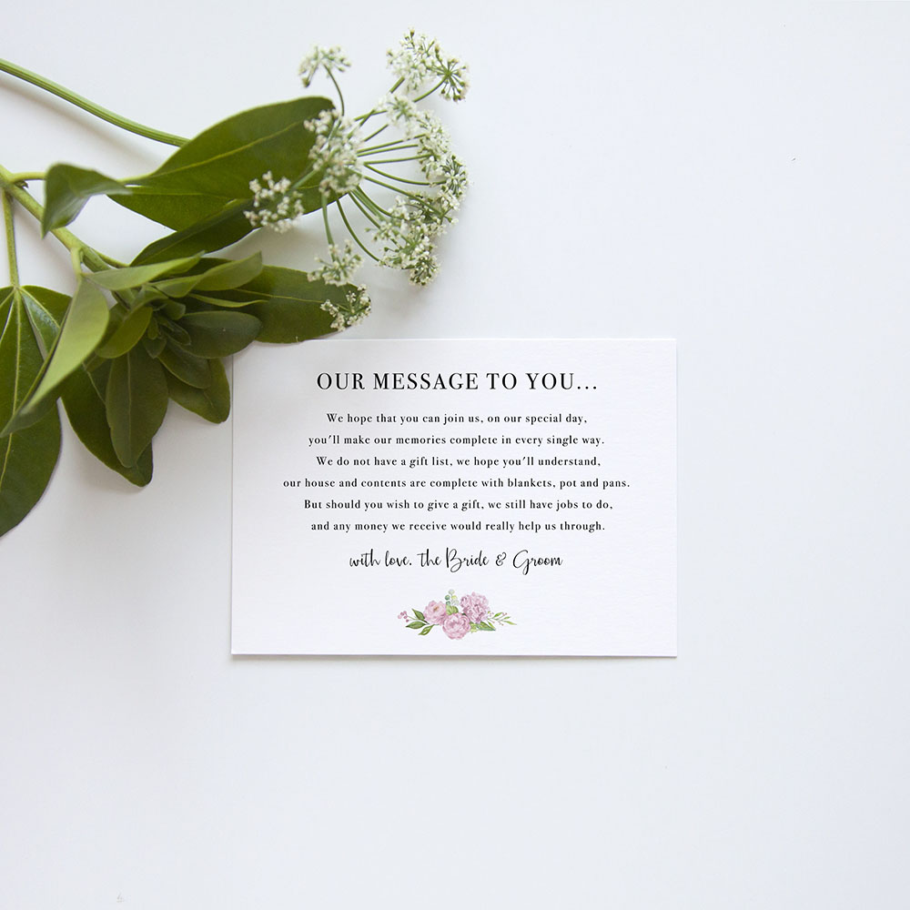 'Hydrangea' Gatefold Invite Sample