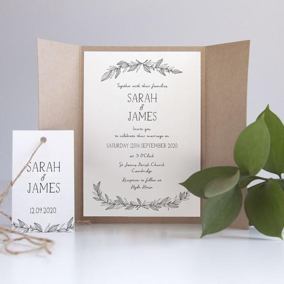 'Jessica' Gatefold Invite Sample