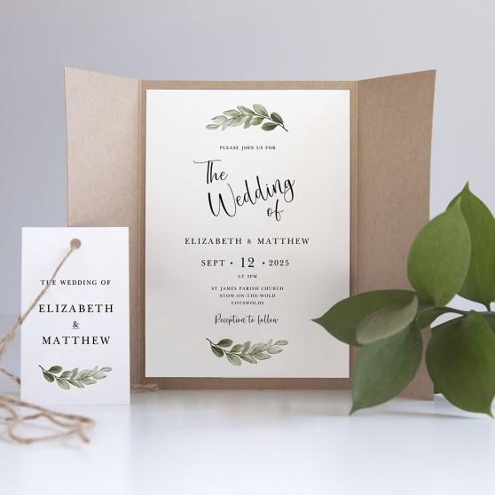 'Tuscany' Gatefold Wedding Invitation