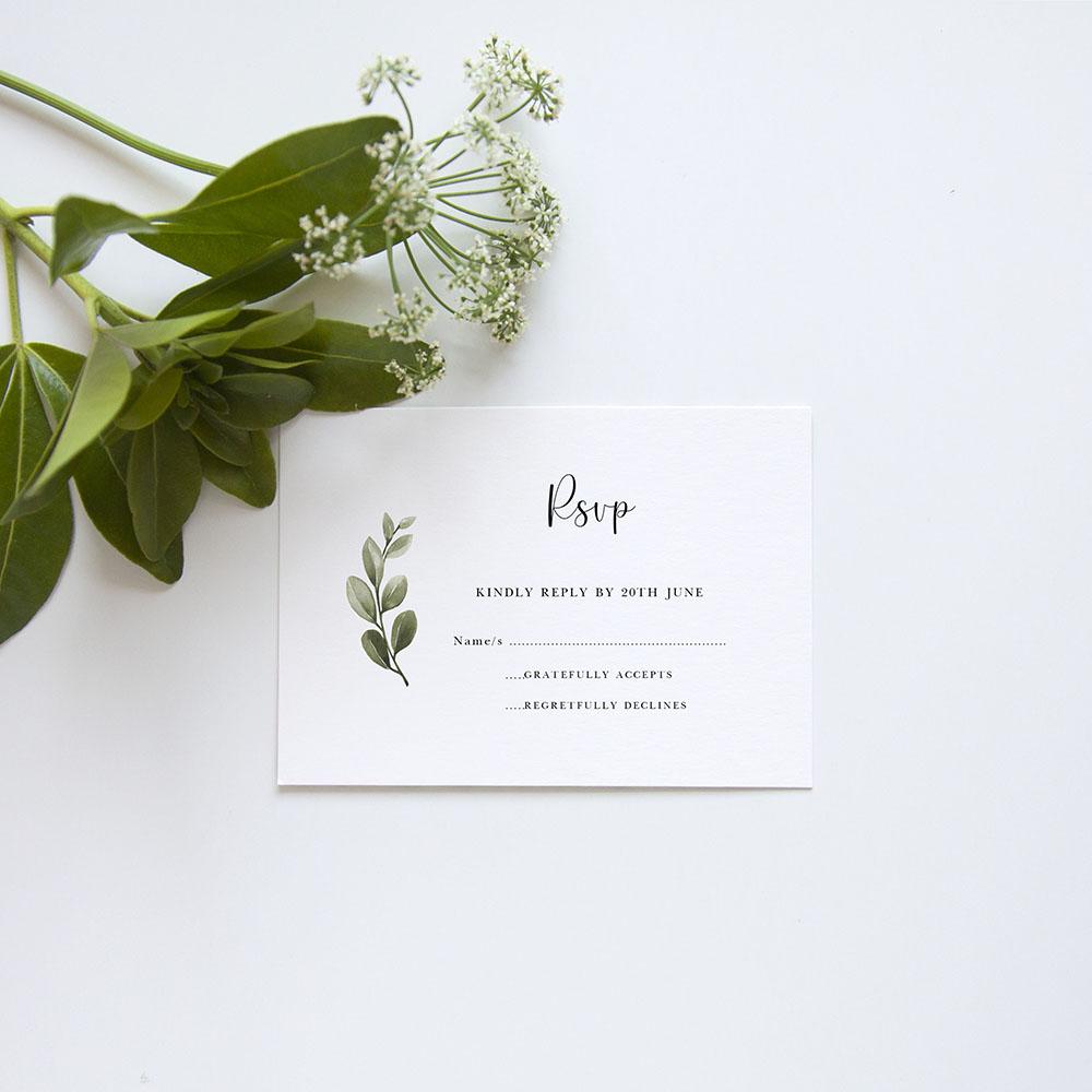 'Tuscany' Gatefold Wedding Invitation Sample
