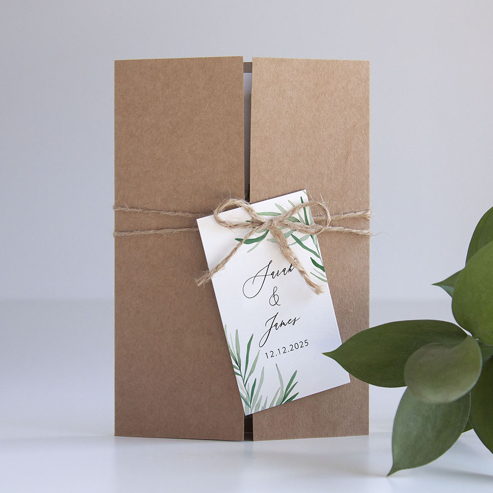 'Willow Eucalyptus' Gatefold Invite Sample
