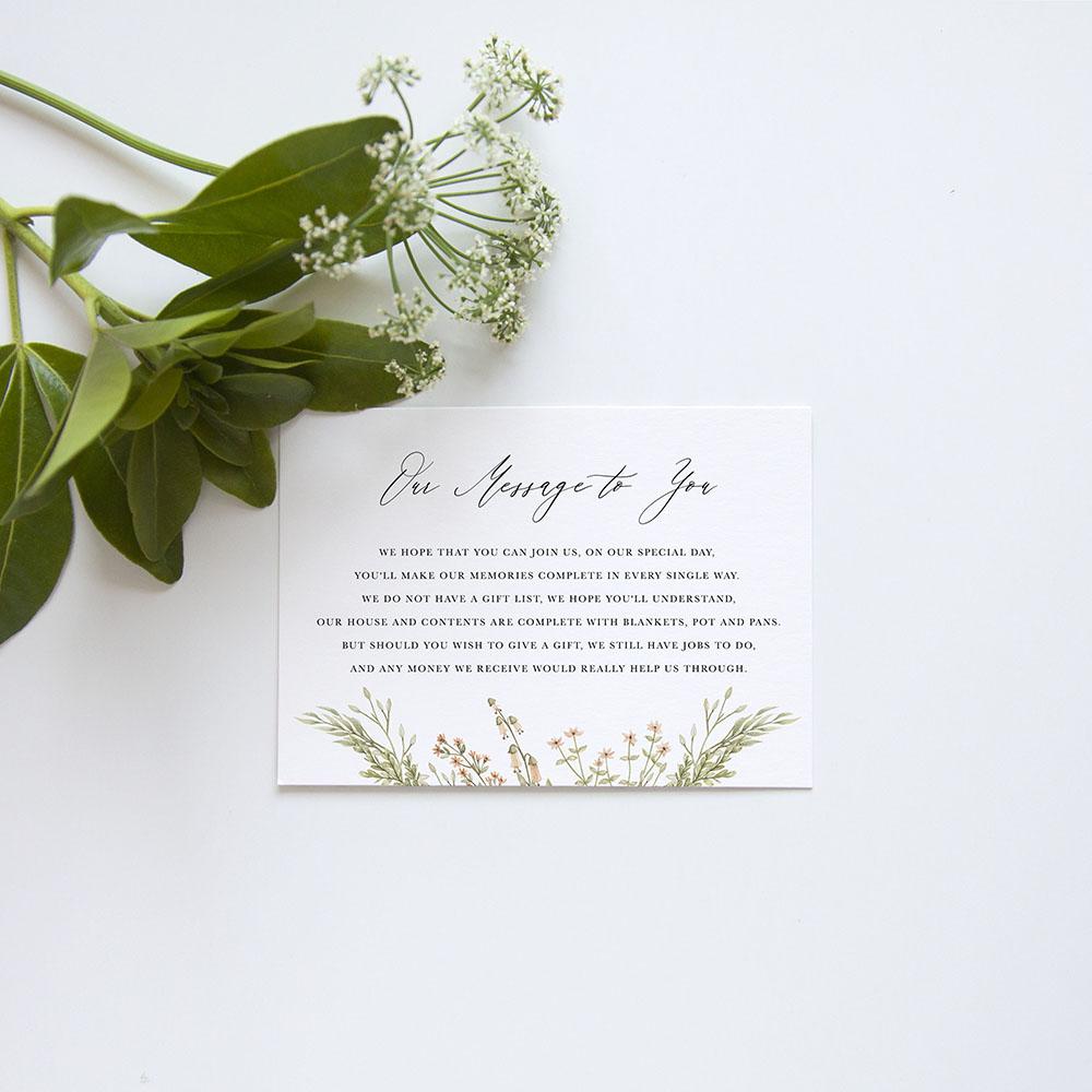 'Woodland Floral' Gatefold Invite