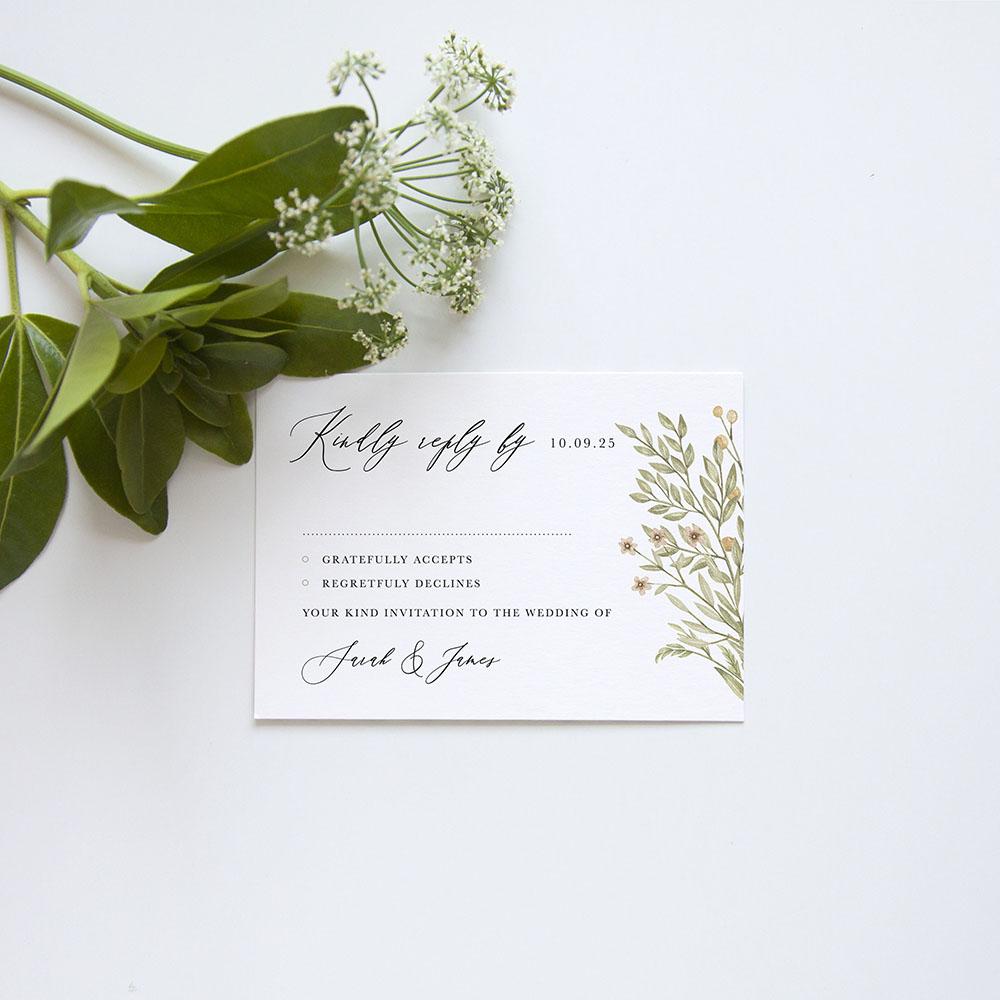 'Woodland Floral' Gatefold Invite Sample