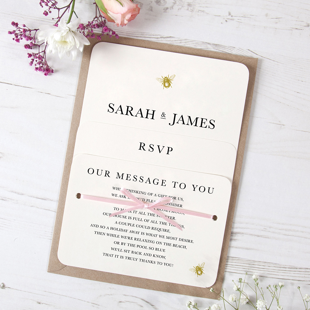 'Bumble Bee' Hole-punched Invite