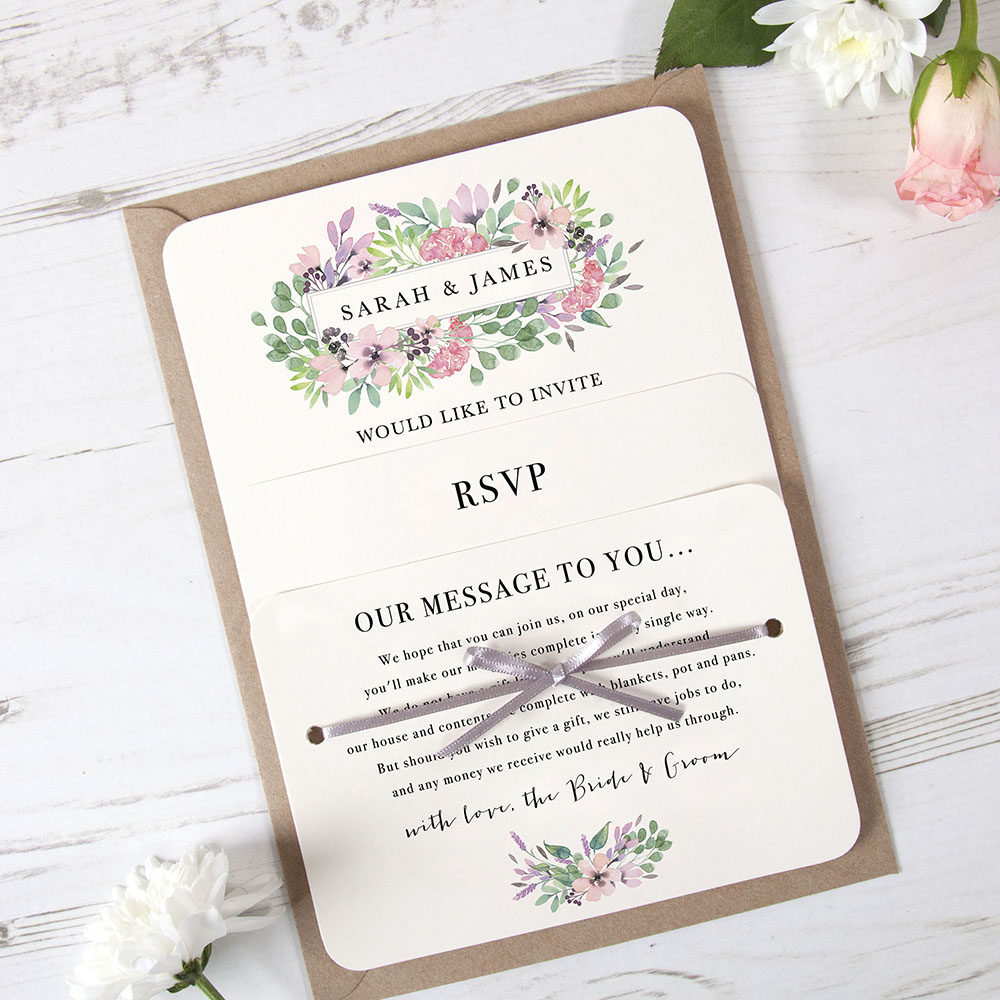 'Chloe' Hole-punched Invite