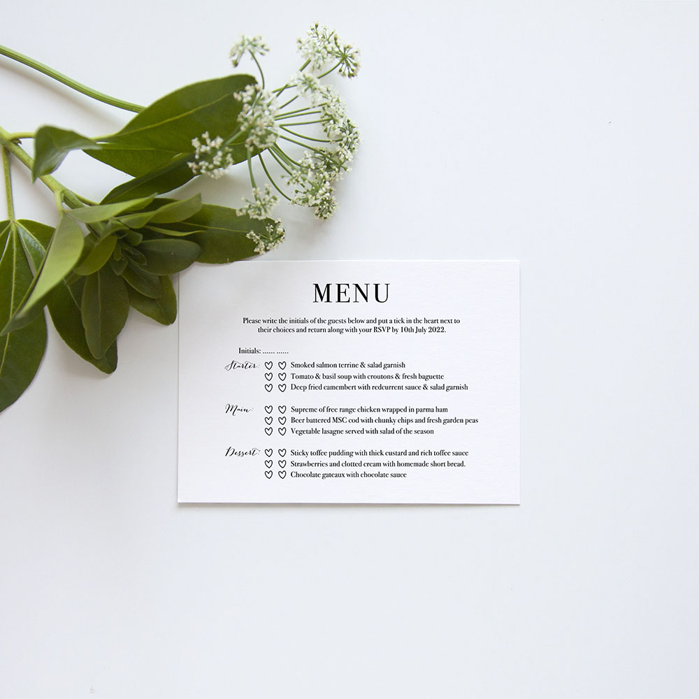 'Alice' Standard Wedding Invitation