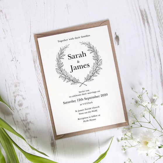 'Alice' Standard Wedding Invitation Sample