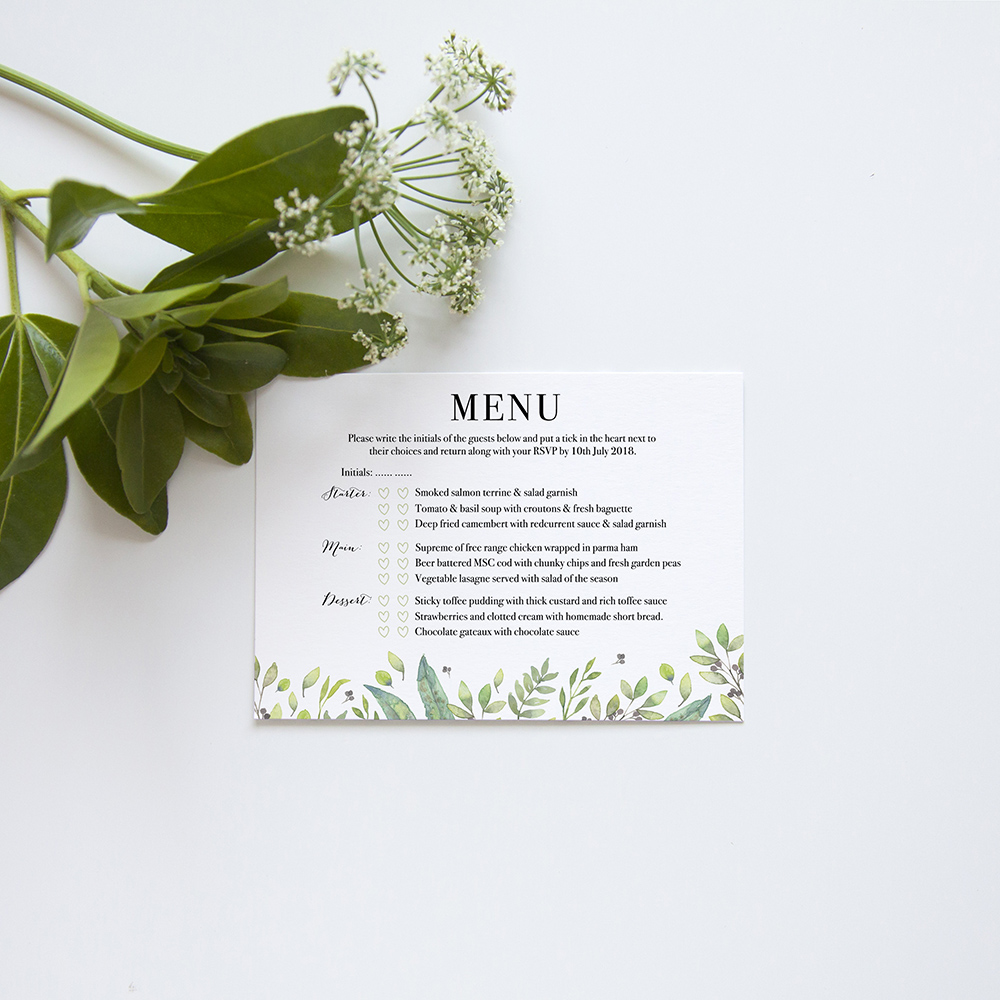'Arabella' Standard Wedding Invitation Sample