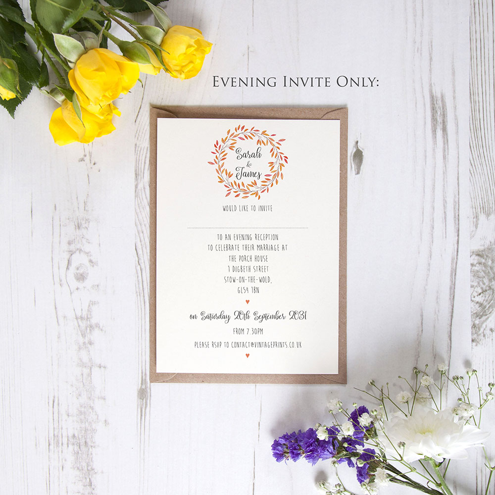 'Autumn Orange' Standard Invite Only Sample