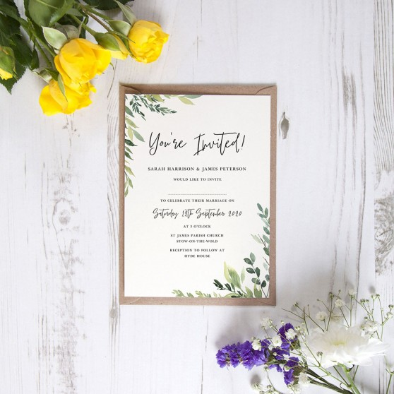 'Back to Nature' Standard Wedding Invitation