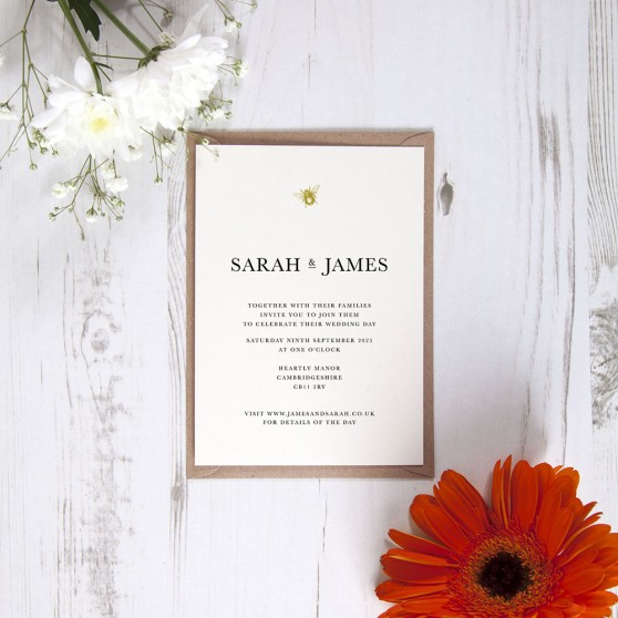 'Bumble Bee' Standard Wedding Invitation