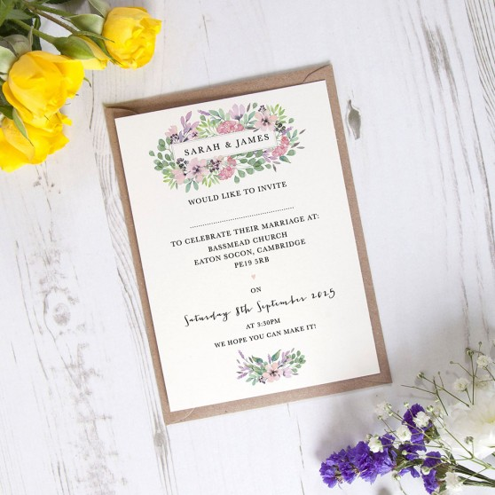 'Chloe' Standard Wedding Invitation