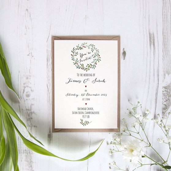 'Christmas' Standard Wedding Invitation