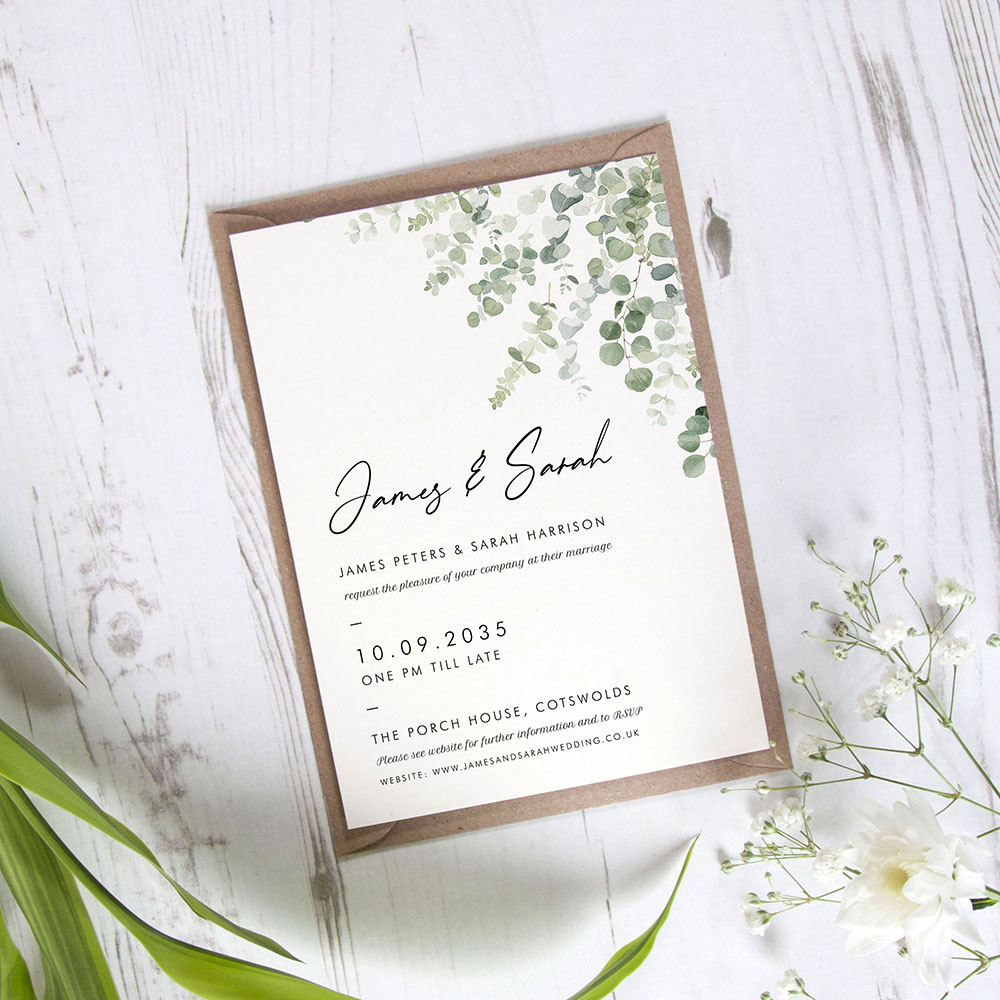 'Classic Eucalyptus' Standard Invite Only Sample