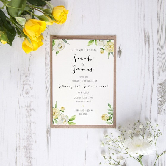 'Daphne' Standard Wedding Invitation