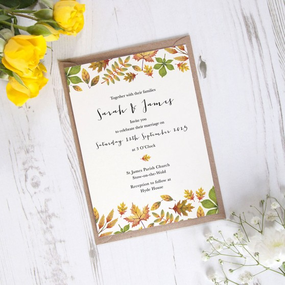 'Dorothy' Standard Wedding Invitation