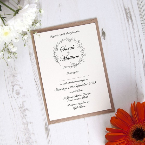 'Elizabeth' Standard Wedding Invitation