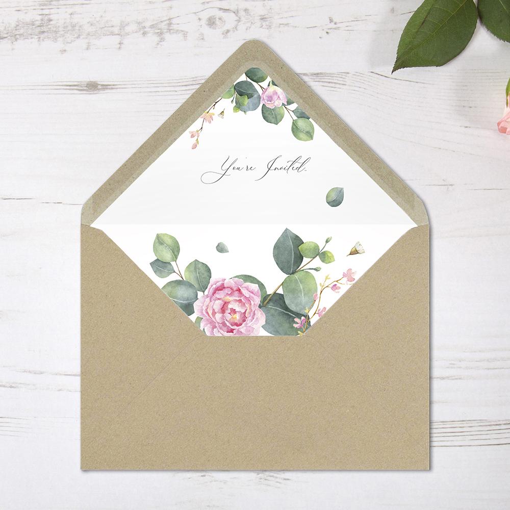 'Eucalyptus Blush' Standard Wedding Invitation