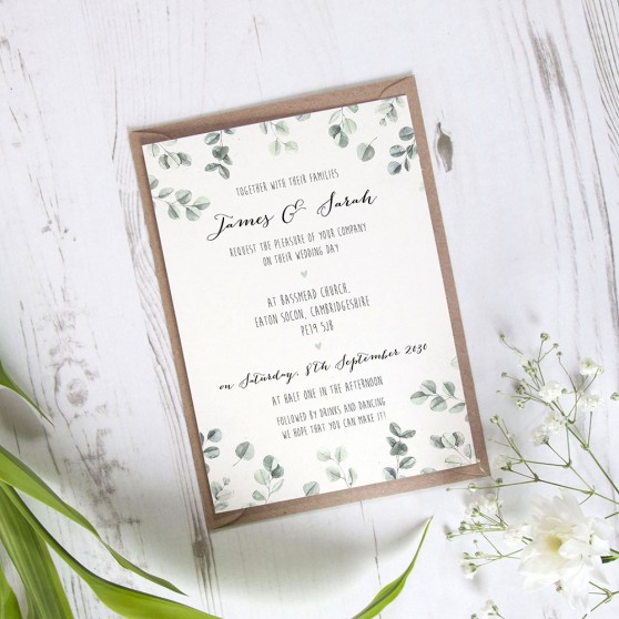 'Eucalyptus' Standard Wedding Invitation