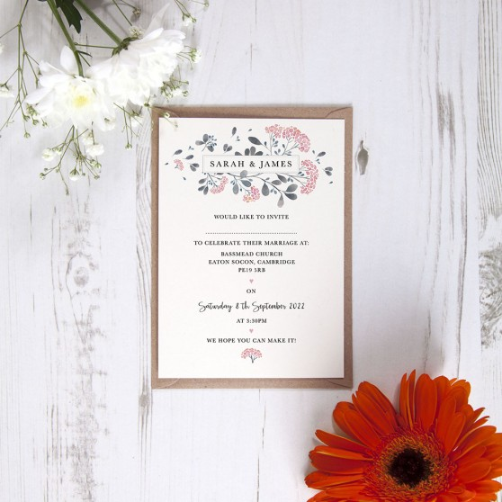 'Felicity' Standard Wedding Invitation Sample